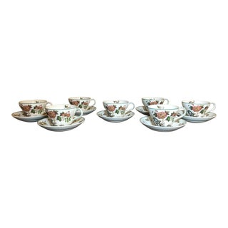 Vintage Wedgewood Autumn Harvest Teacup and Saucers - Service For 7 For Sale