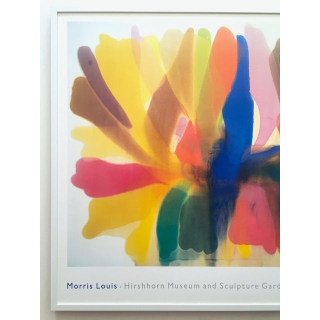 "This Morris Louis rare vintage 1989 extra large Abstract Expressionist lithograph print custom framed museum poster ""..."