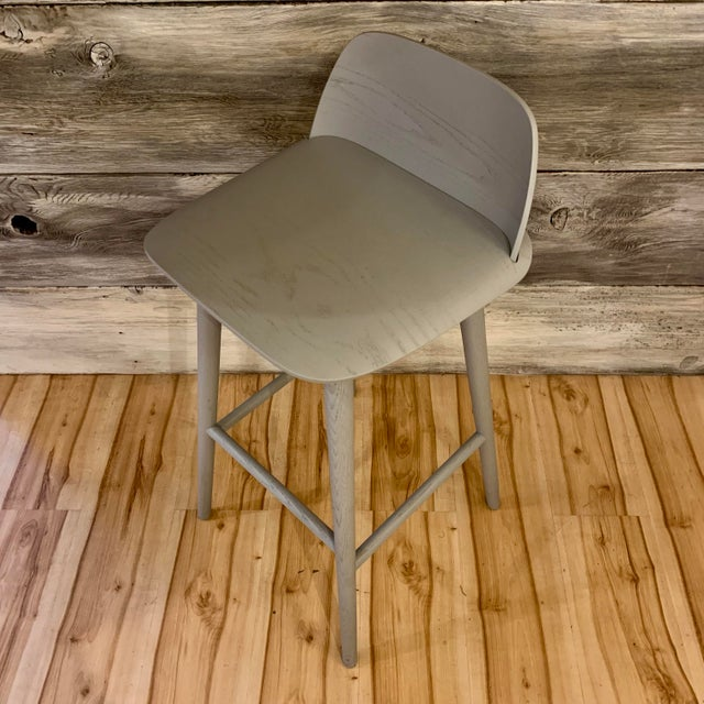 Modern David Geckeler Muuto Nerd Molded Plywood Barstool For Sale - Image 4 of 13
