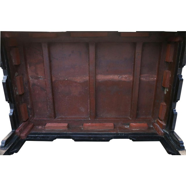 Black Antique Chinese Black Lacquer Table For Sale - Image 8 of 11