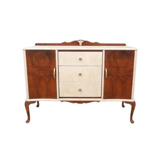 1940s French Burlwood Buffet For Sale