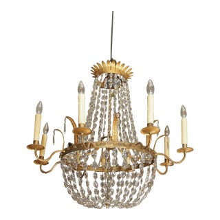 19th Century French Empire Style Crystal Chandelier