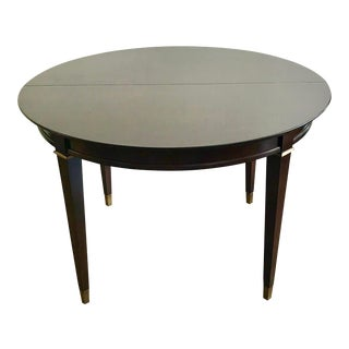 20th Century Neoclassical Round Mahogany Dining Table For Sale