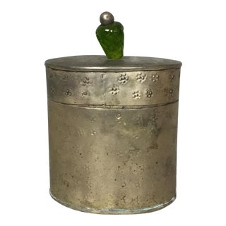 Pressed Tin Indian Canister