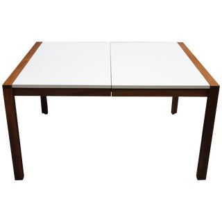Martin Borenstein Dining Table W/Two Leaves for Brown Saltman For Sale
