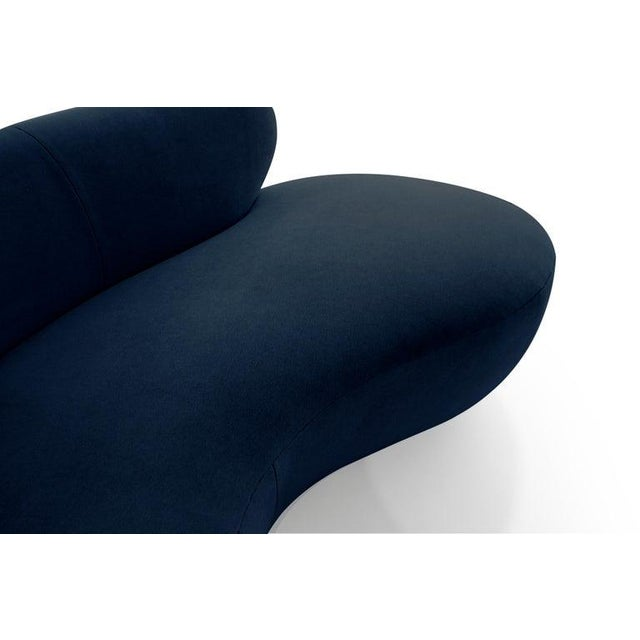 Late 20th Century Mohair Cloud Sofa on Walnut Bases by Vladimir Kagan for Directional For Sale - Image 11 of 13