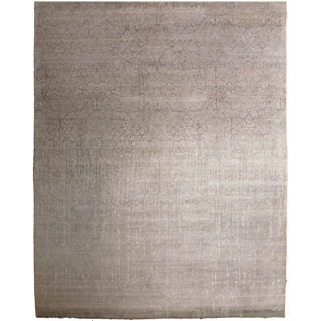 """Transitional Hand-Knotted Luxury Rug - 8'1"""" x 10' For Sale"""