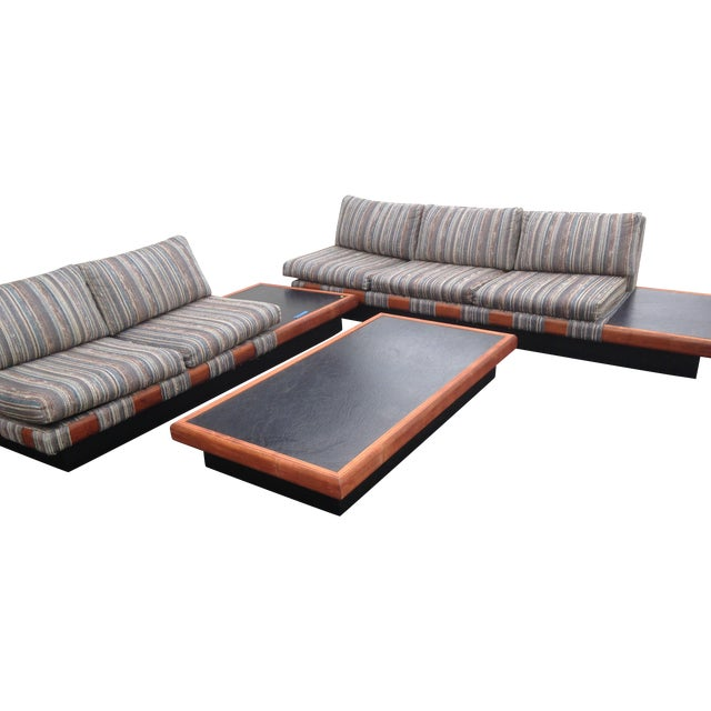 1960s Adrian Pearsall Platform Sofa and Table Set For Sale