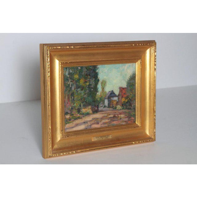 Realism American Impressionistic Oil on Board by Roy Brown (American, 1879-1956) For Sale - Image 3 of 13