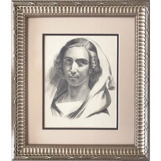 1847 French Portrait Drawing For Sale