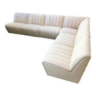 Large Wool Tufted Modular Sectional Sofa in the Style of Steve Chase For Sale