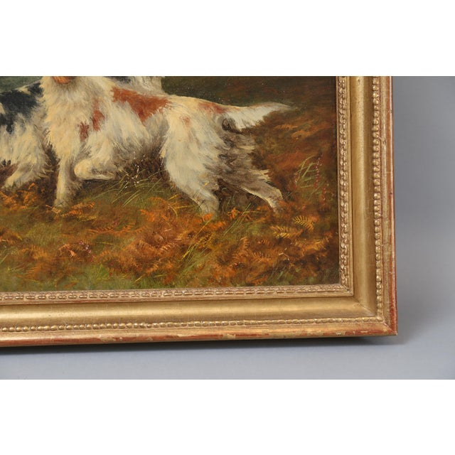 Antique Sporting Dogs Oil Painting, Robert Cleminson (Active 1864-1903) For Sale - Image 4 of 9