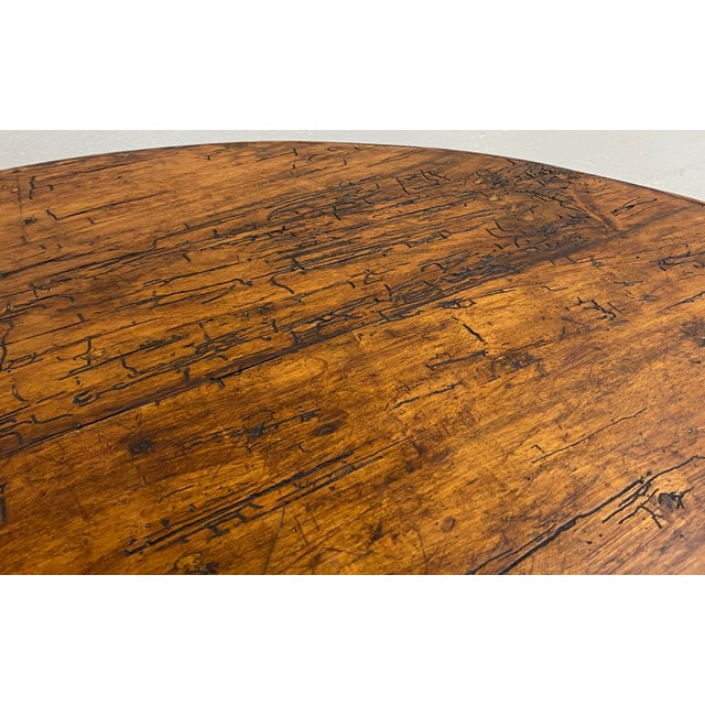 Wood 19th Century French Tilt Top Tavern or Wine Table For Sale - Image 7 of 9