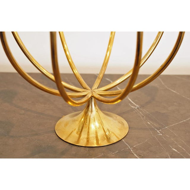 Gold Pair Illums Bolighus Brass Candelabra For Sale - Image 8 of 10