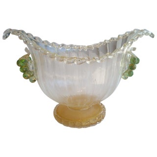 Ercole Barovier Murano Glass and Gold Centerpiece or Vase for Artistica Barovier For Sale