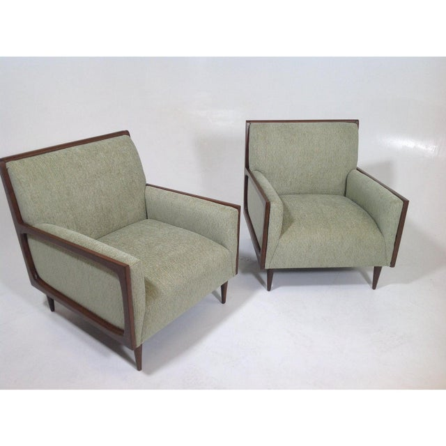 Mid-Century Modern Mid-Century Modern Style Lounge Chairs - a Pair For Sale - Image 3 of 7