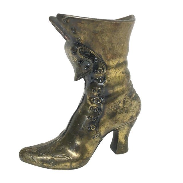 Brass Victorian Boot - Image 1 of 6