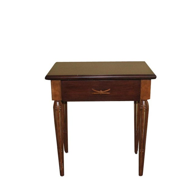 Brown Contemporary Wooden Night Stand Aka Single Drawer Side Table For Sale - Image 8 of 8