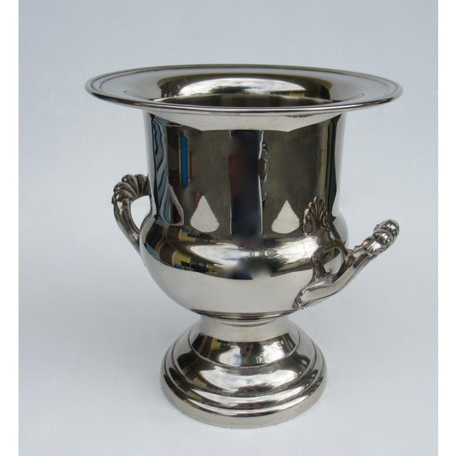 Vintage Silverplate Handled Champagne/Wine Bucket Holder For Sale - Image 4 of 13