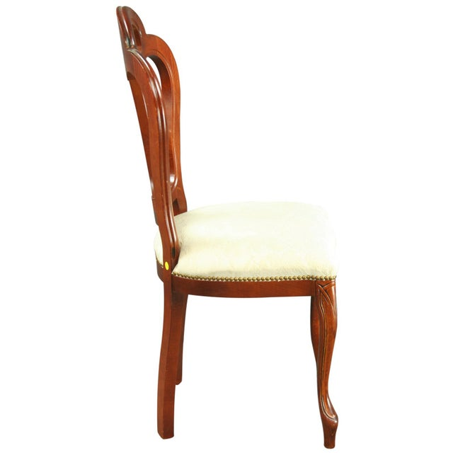 Large, New Italian Mahogany Rococo Dining Chair - Image 5 of 8