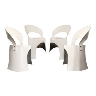 Last Call Nanna Ditzel White Fiberglass Chairs (1969) - a Pair