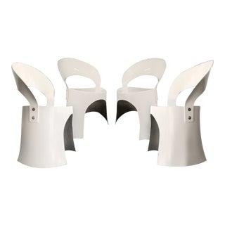 Nanna Ditzel White Fiberglass Chairs (1969) - a Pair