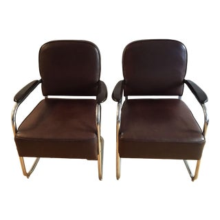 Lloyd Art Deco Chairs - a Pair For Sale