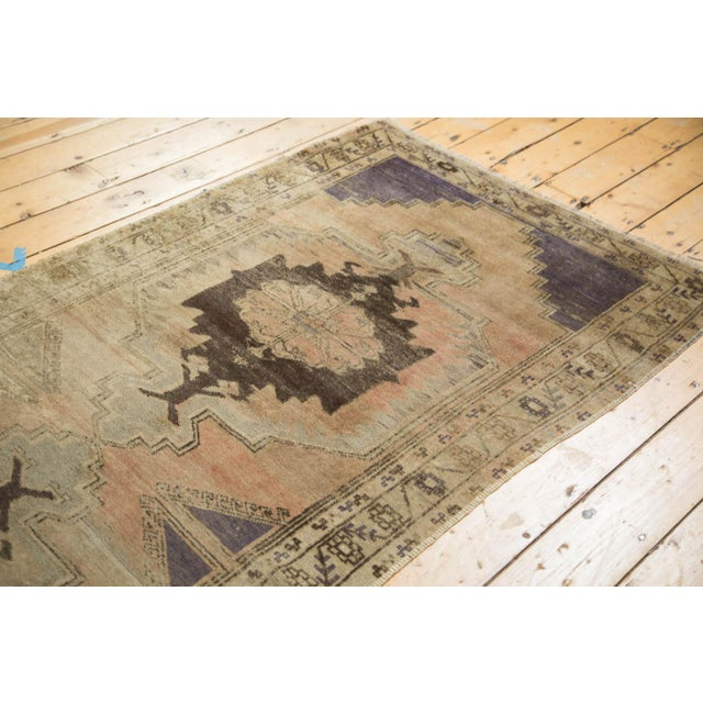 "Vintage Distressed Oushak Rug Runner - 3'7"" x 8' - Image 7 of 10"