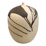 Image of Ceramic Vase With Lava Glaze For Sale