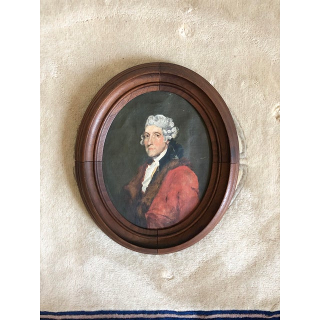 Antique Thomas Jefferson Oval Oil Portrait For Sale In Buffalo - Image 6 of 6