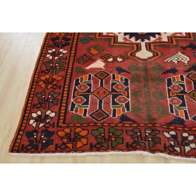 Vintage Persian Luri Rug- 4′1″ × 7′5″ For Sale - Image 10 of 13