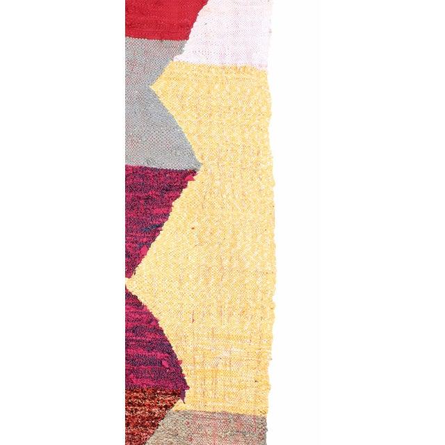 "Moroccan Kilim Boucherouite Rug - 4'3"" X 6'10"" - Image 3 of 6"
