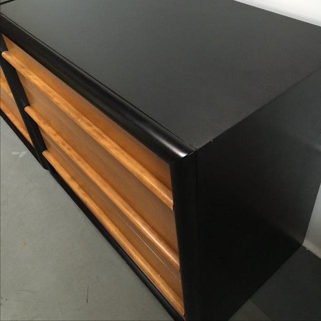 Widdicomb Black Lacquer Dressers - A Pair - Image 4 of 6