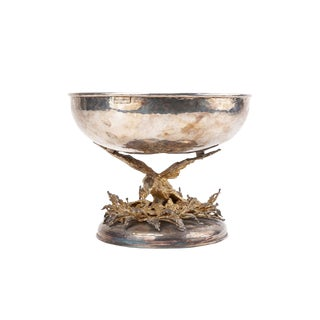Franco Lafini Silver and Gold-Plated Centerpiece Bowl For Sale
