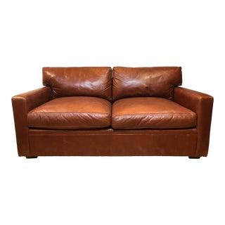Ralph Lauren Leather Mercer Sofa For Sale