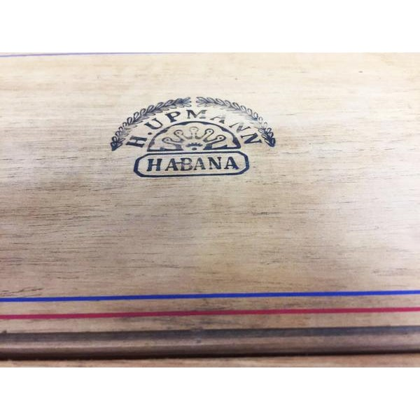 Rare H.Upmann Vintage Cigar Tobacco Box Humidor For Sale - Image 10 of 11