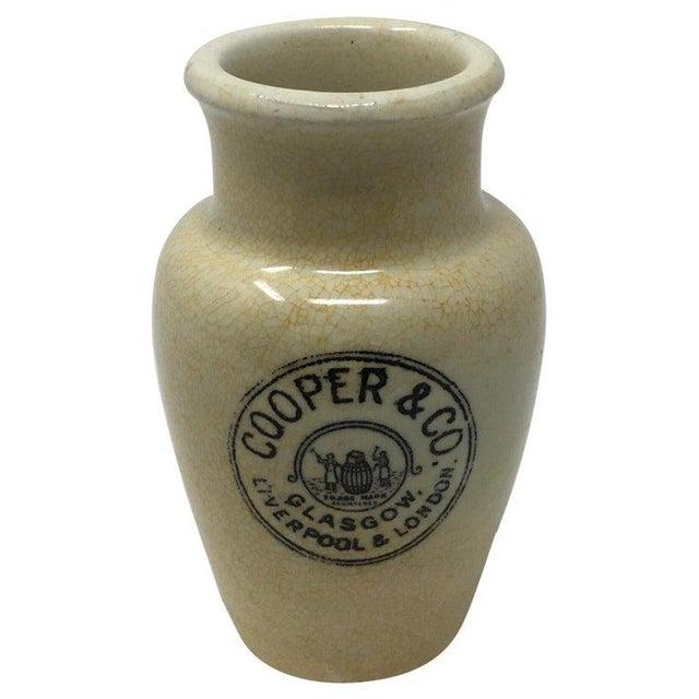 Ceramic Antique English Advertising Cream Pot, Cooper & Co. Glasgow, Liverpool & London For Sale - Image 7 of 7