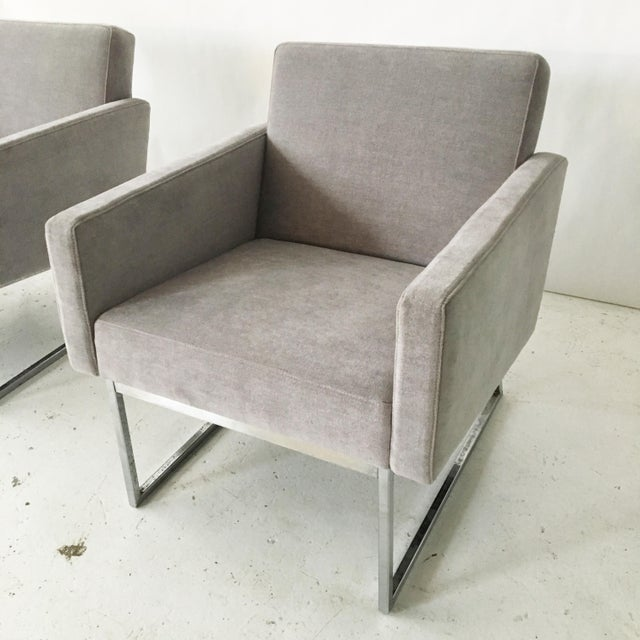 Milo Baughman Lounge Chairs- A Pair - Image 5 of 10