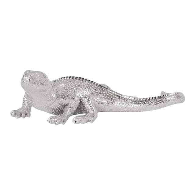 Kenneth Ludwig Chicago Lizard Figurine Bright Textured Nickel For Sale
