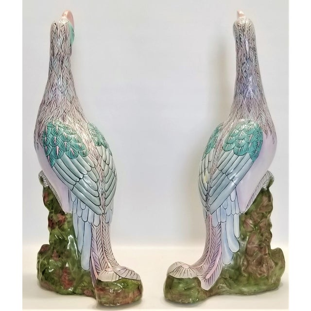 Phoenix Bird Statues - Super Large 17 Inches - Feng Shui - Asian Palm Beach Boho Chic Animals Tropical Coastal For Sale In Miami - Image 6 of 13