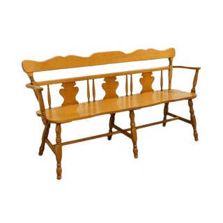 Late 20th Century Vintage St. Johns Colonial Style Deacon's Bench For Sale