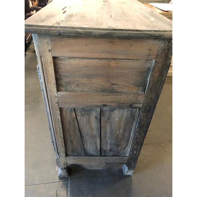 Graphite 18th Century French Provincial Louis XV Buffet For Sale - Image 7 of 8
