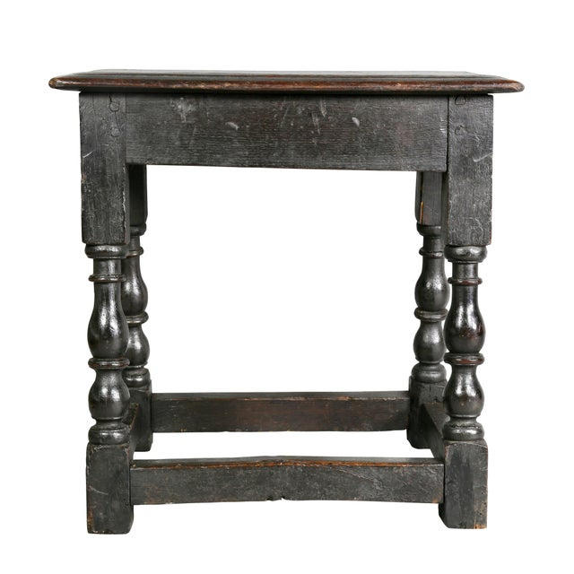 Brown Jacobean Oak Joint Stool For Sale - Image 8 of 10