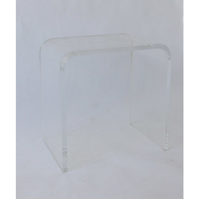 Vintage Lucite Side Table - Image 2 of 5