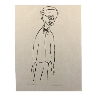 Aline Fruhauf Woodcut 1973 For Sale