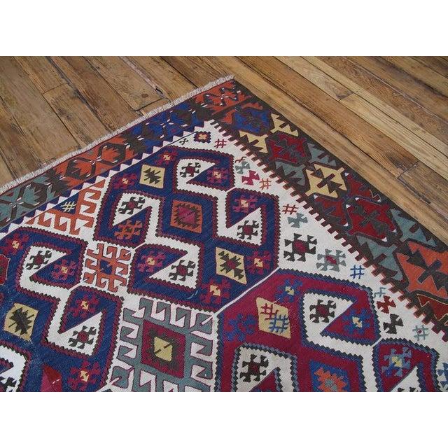 Islamic Antique Aksaray Kilim For Sale - Image 3 of 10