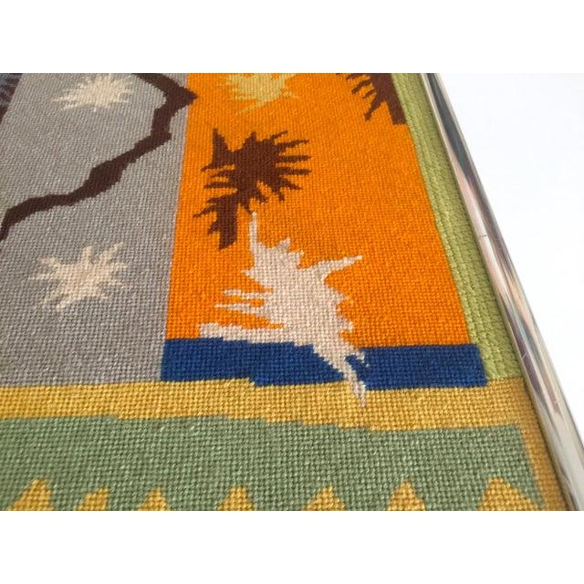 "Metal Vintage Mid Century Modern Henri Matisse ""Cut Outs"" Framed Hand Needlepoint Art For Sale - Image 7 of 10"
