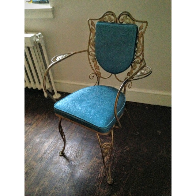 Mid Century Hollywood Regency Accent Chair - Image 8 of 11