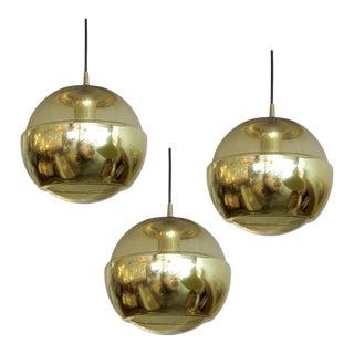1970s Smoked Glass Hanging Lights - Set of 3 For Sale