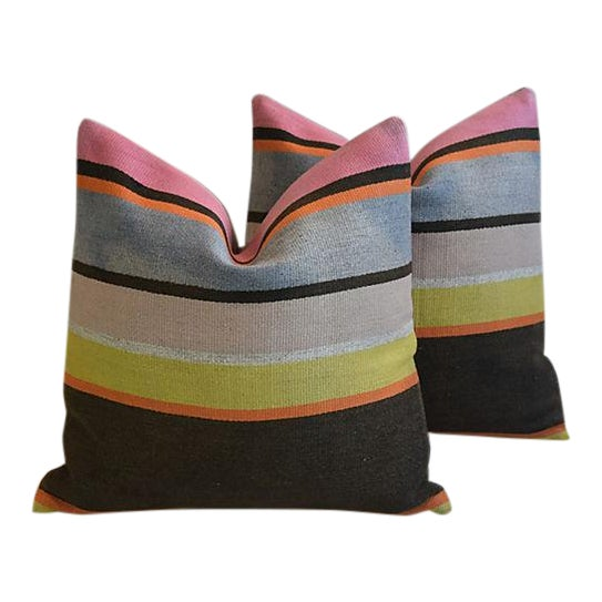 Custom Tailored Anatolian Turkish Kilim Wool Feather/Down Pillows - A Pair - Image 1 of 11